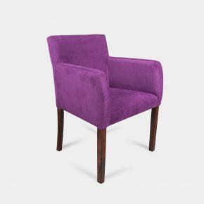 Krzesło tapicerowane nowoczesne Boston - tkanina fiolet