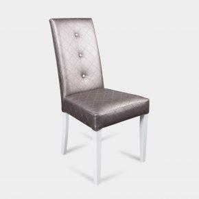 Nowoczesne krzesło tapicerowane Nanni G - biały kolor nóg
