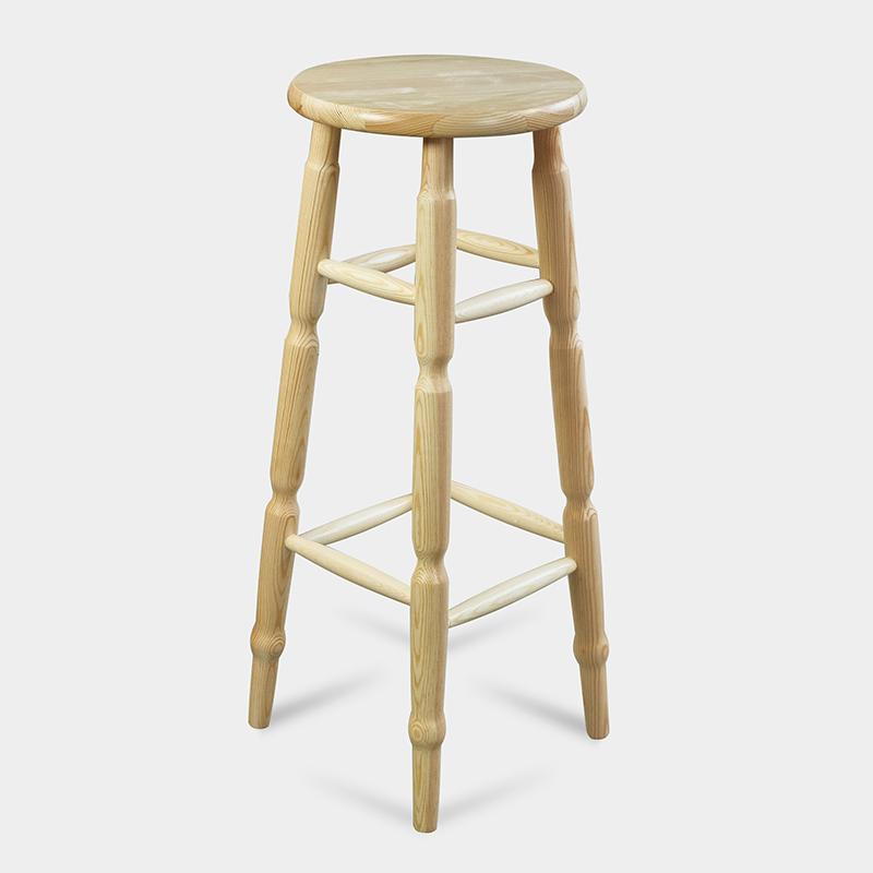 Stołek barowy okrągły drewniany - Hoker OK