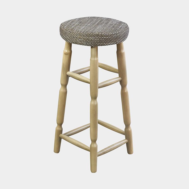 Taboret barowy okrągły tapicerowany - Hoker OKT