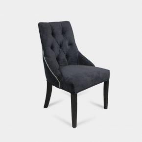 Krzesło tapicerowane klasyczne z kołatką - Fiona K - czarne