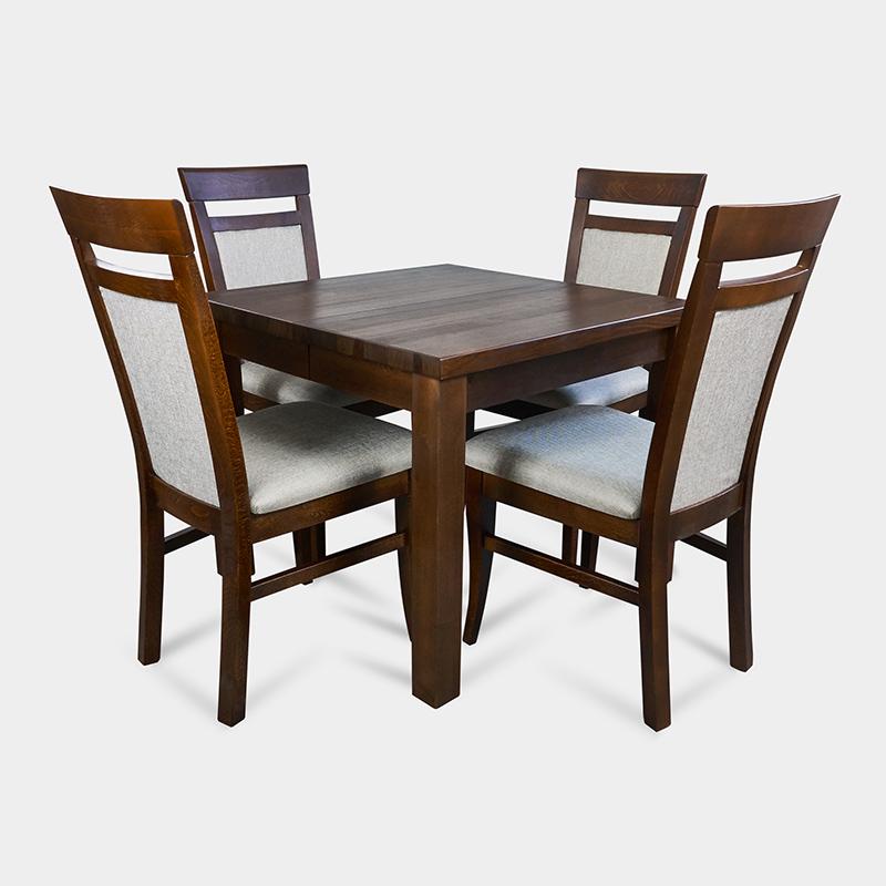 Zestaw do kuchni stół kwadratowy z krzesłami tapicerowanymi - Anton