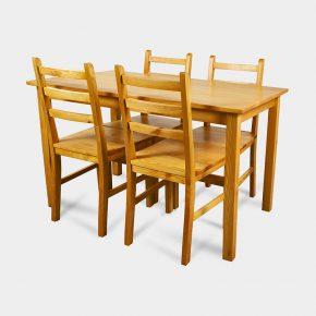 Tani zestaw do kuchni stół drewniany z krzesłami - Finja